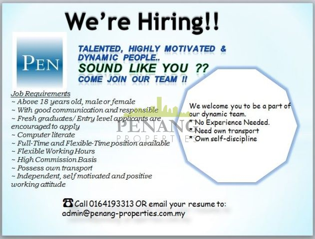 we re hiring  e join our team penang properties my