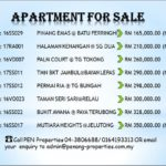 Apartments for Sale at Penang !! Call 04-3806688/016-4193313 for further details