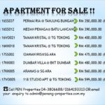 Apartments for Sale at Penang !!Call 04-3806688/ 0164193313 for more details