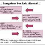 Bungalow House for Sale at Penang , Call 04-3806688/ 0164193313 today !!
